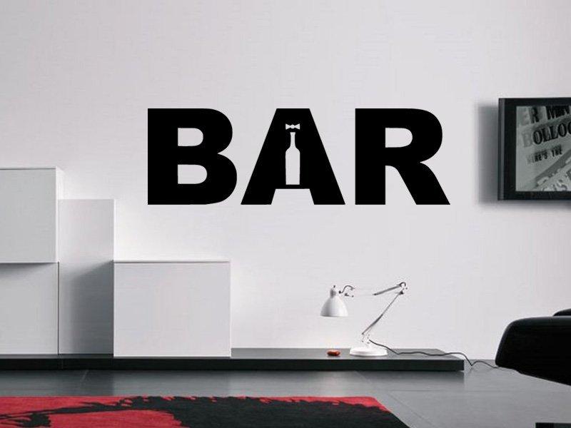 Samolepky na zeď Bar 001 - Samolepící dekorace a nálepka na stěnu
