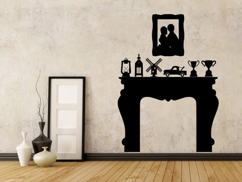 Samolepky na zeď Prostřený stůl 0114 - Samolepící dekorace a nálepka na stěnu