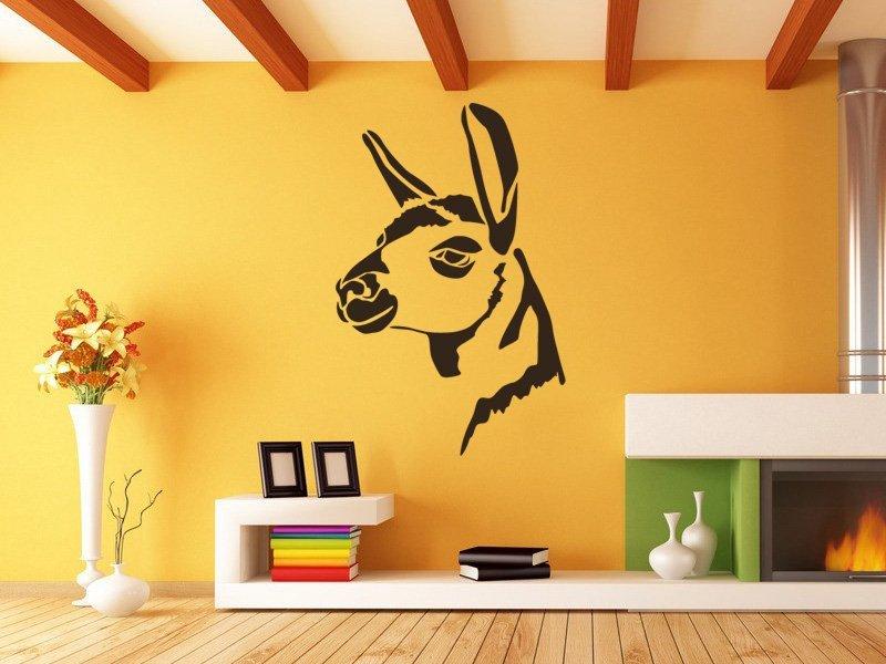 Samolepky na zeď Hlava lamy 0613 - Samolepící dekorace a nálepka na stěnu