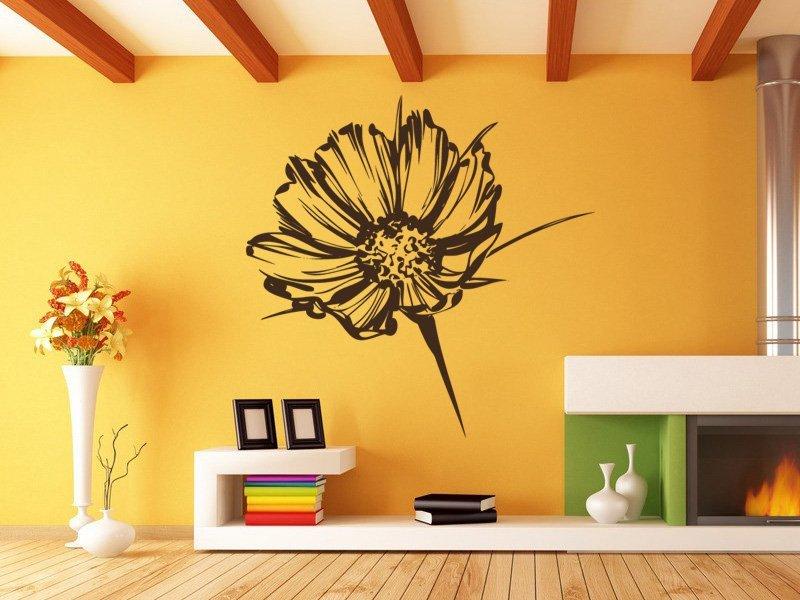 Samolepky na zeď Květiny 030 - Samolepící dekorace a nálepka na stěnu