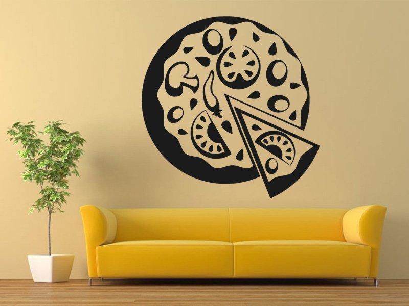Samolepky na zeď Pizza 0149 - Samolepící dekorace a nálepka na stěnu