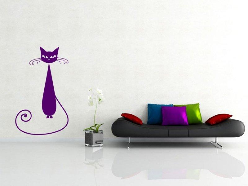 Samolepka na zeď Kočka 005