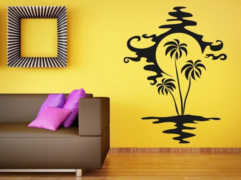 Samolepky na zeď Palmy 002 - Samolepící dekorace a nálepka na stěnu