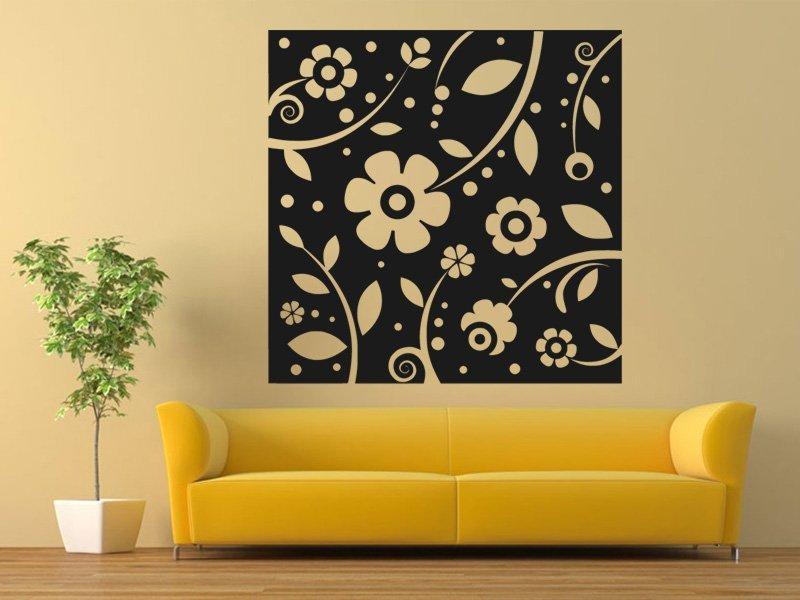 Samolepky na zeď Květiny 0215 - Samolepící dekorace a nálepka na stěnu