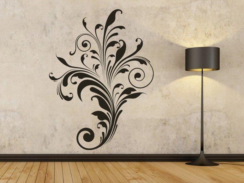 Samolepky na zeď Rostlina 001 - Samolepící dekorace a nálepka na stěnu
