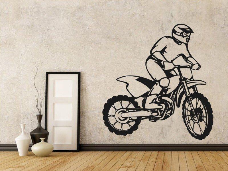 Samolepky na zeď Motorka 010 - Samolepící dekorace a nálepka na stěnu