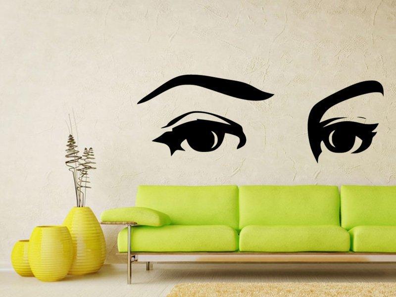 Samolepky na zeď Oči 001 - Samolepící dekorace a nálepka na stěnu