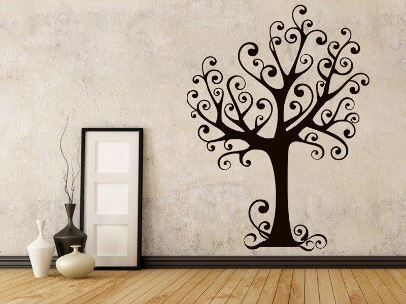 Samolepky na zeď Strom 023 - Samolepící dekorace a nálepka na stěnu
