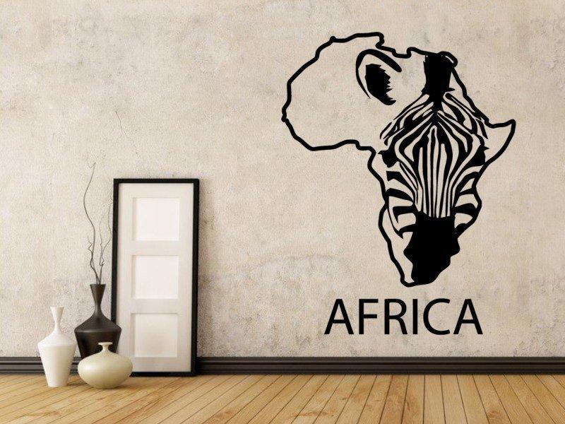 Samolepky na zeď Zebra 009 - Samolepící dekorace a nálepka na stěnu