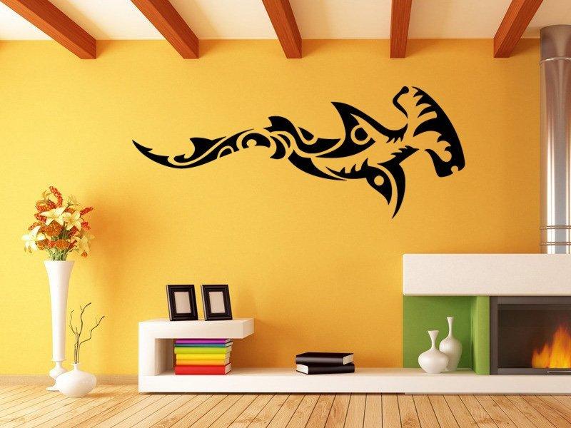 Samolepky na zeď Žralok 008 - Samolepící dekorace a nálepka na stěnu