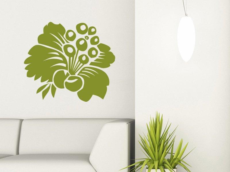 Samolepky na zeď Květiny 008 - Samolepící dekorace a nálepka na stěnu