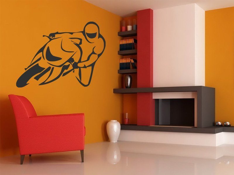 Samolepky na zeď Motorka 015 - Samolepící dekorace a nálepka na stěnu
