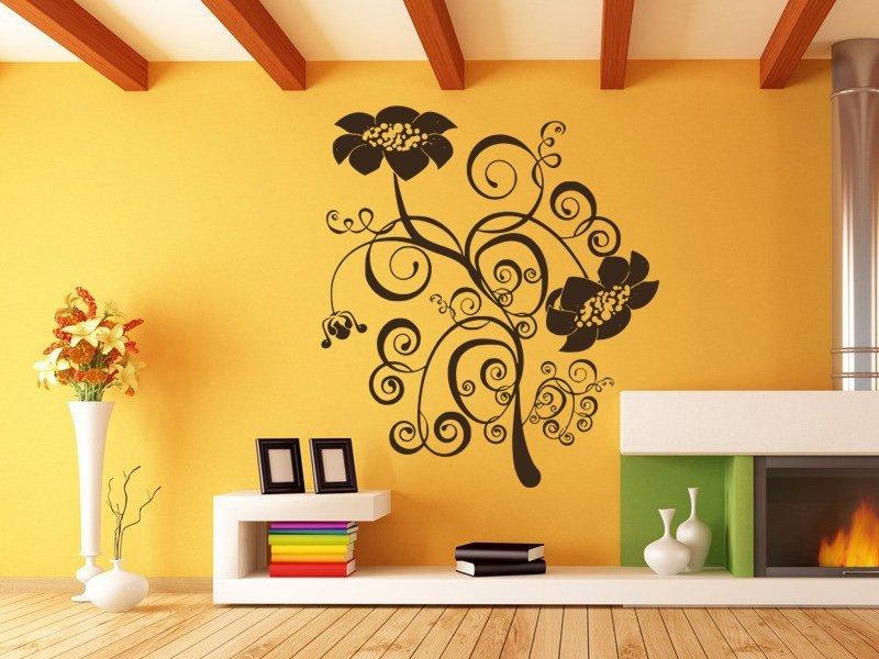 Samolepky na zeď Květiny 042 - Samolepící dekorace a nálepka na stěnu