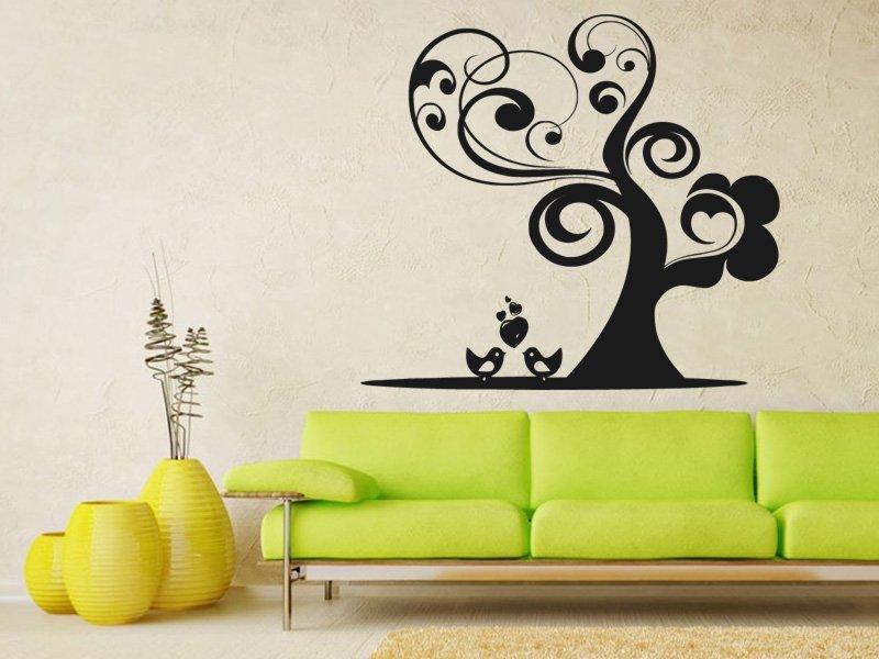 Samolepky na zeď Zamilovnaý strom 0222 - Samolepící dekorace a nálepka na stěnu