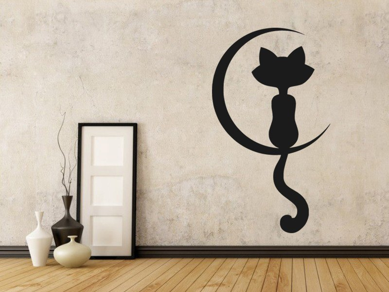 Samolepky na zeď Kočka 0438 - Samolepící dekorace a nálepka na stěnu