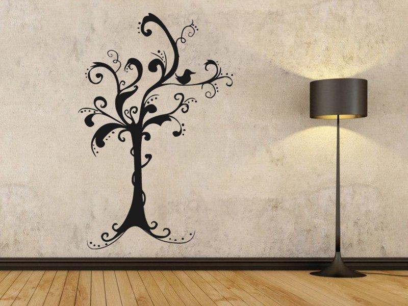 Samolepky na zeď Strom 039 - Samolepící dekorace a nálepka na stěnu