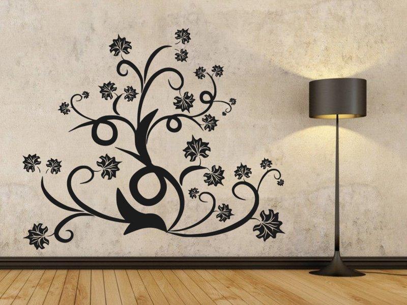 Samolepky na zeď Ornamenty z rostlin 015 - Samolepící dekorace a nálepka na stěnu