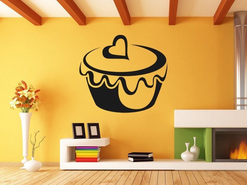 Samolepky na zeď Cupcake 0002 - Samolepící dekorace a nálepka na stěnu
