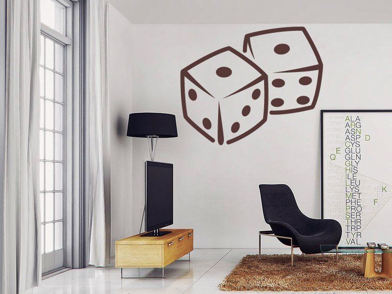 Samolepky na zeď Kostky 001 - Samolepící dekorace a nálepka na stěnu