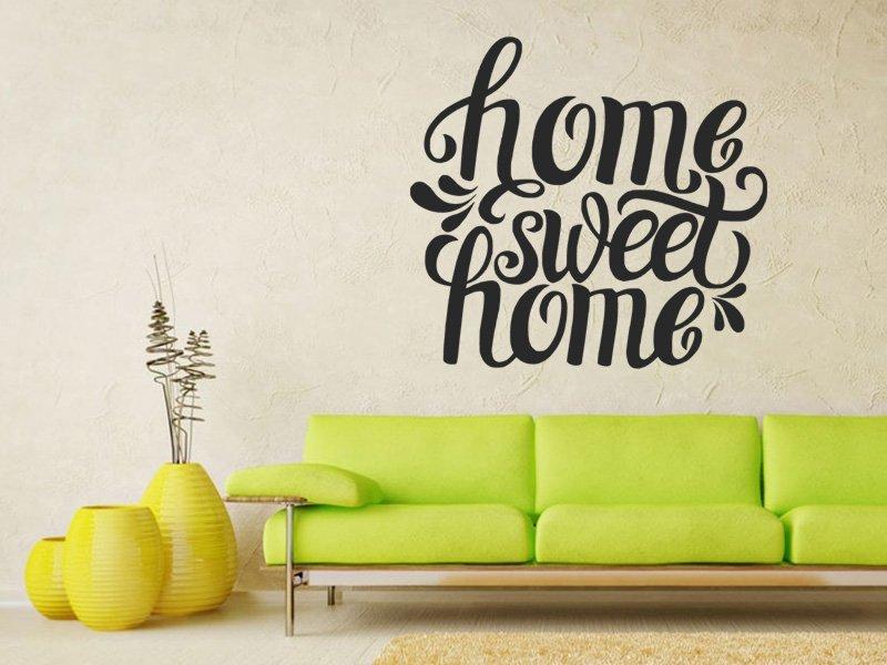 Samolepky na zeď Nápis Home Sweet Home 0624 - Samolepící dekorace a nálepka na stěnu
