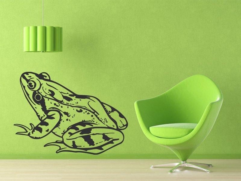 Samolepky na zeď Žába 008 - Samolepící dekorace a nálepka na stěnu