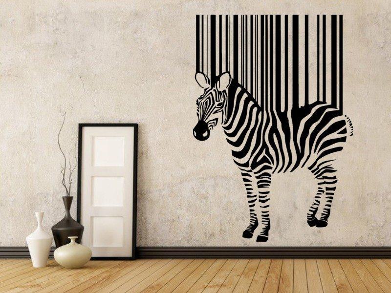 Samolepky na zeď Zebra 016 - Samolepící dekorace a nálepka na stěnu