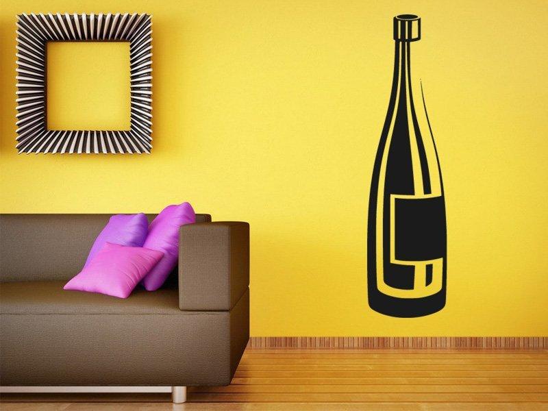 Samolepky na zeď Lahev vína 0078 - Samolepící dekorace a nálepka na stěnu