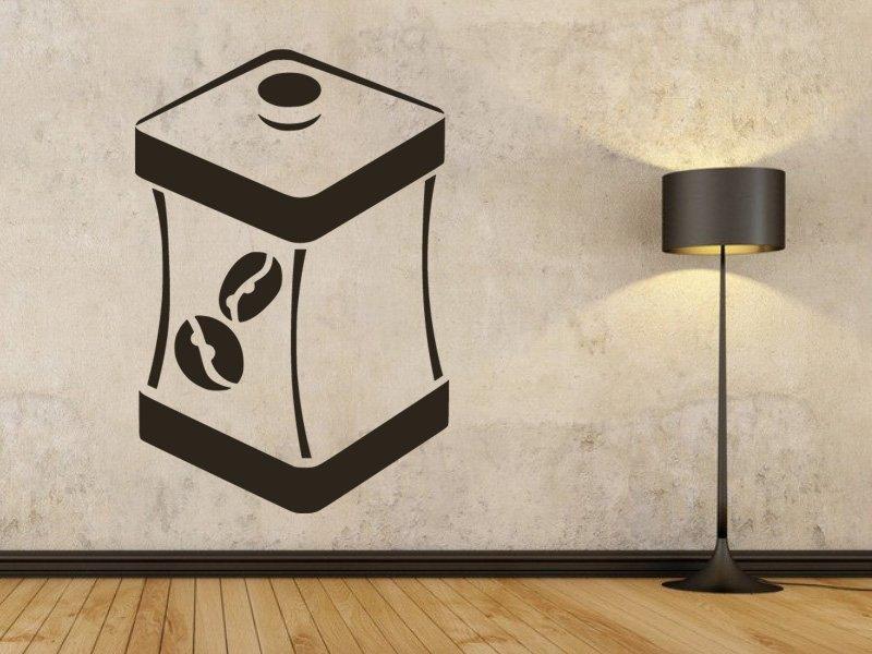 Samolepky na zeď Dóza na kávu 0124 - Samolepící dekorace a nálepka na stěnu