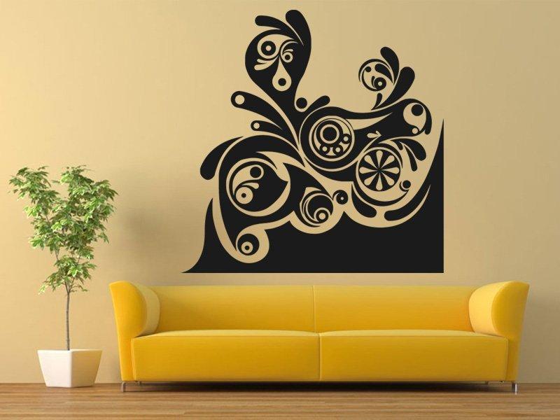 Samolepky na zeď Ornament 0177 - Samolepící dekorace a nálepka na stěnu