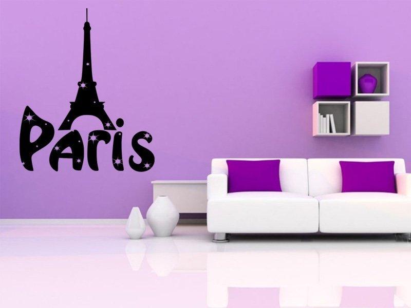 Samolepky na zeď Paříž 001 - Samolepící dekorace a nálepka na stěnu