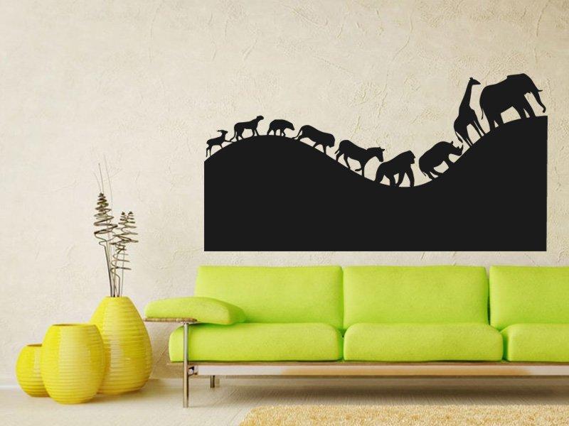 Samolepky na zeď Africká zvířata 002 - Samolepící dekorace a nálepka na stěnu