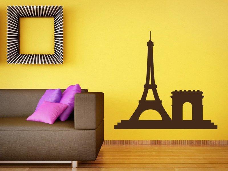 Samolepky na zeď Paříž 009 - Samolepící dekorace a nálepka na stěnu