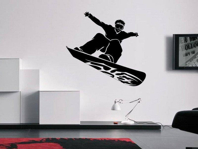 Samolepky na zeď Snowboardista 001 - Samolepící dekorace a nálepka na stěnu