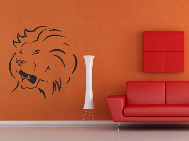 Samolepky na zeď Lev 015
