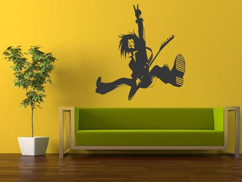 Samolepky na zeď Kytarista 007 - Samolepící dekorace a nálepka na stěnu