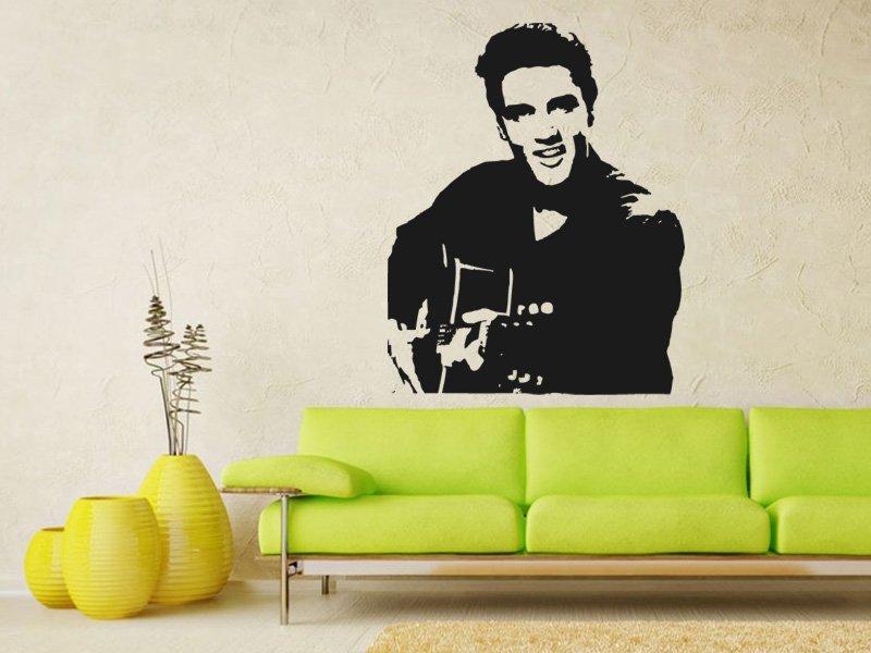 Samolepky na zeď Elvis Presley 001 - Samolepící dekorace a nálepka na stěnu