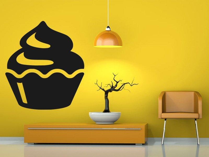 Samolepky na zeď Cupcake 0070 - Samolepící dekorace a nálepka na stěnu