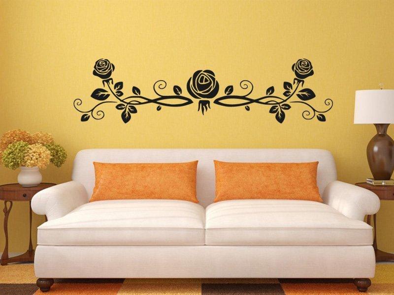 Samolepky na zeď Růže 0186 - Samolepící dekorace a nálepka na stěnu