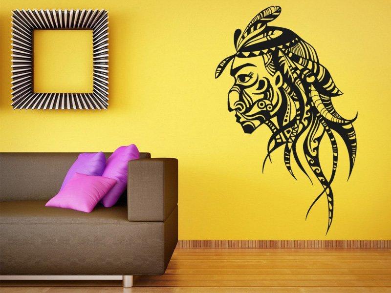 Samolepky na zeď Indián 0209 - Samolepící dekorace a nálepka na stěnu