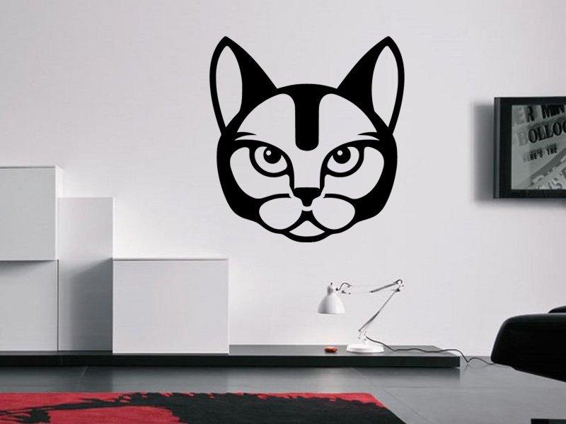 Samolepky na zeď Kočka 0490 - Samolepící dekorace a nálepka na stěnu