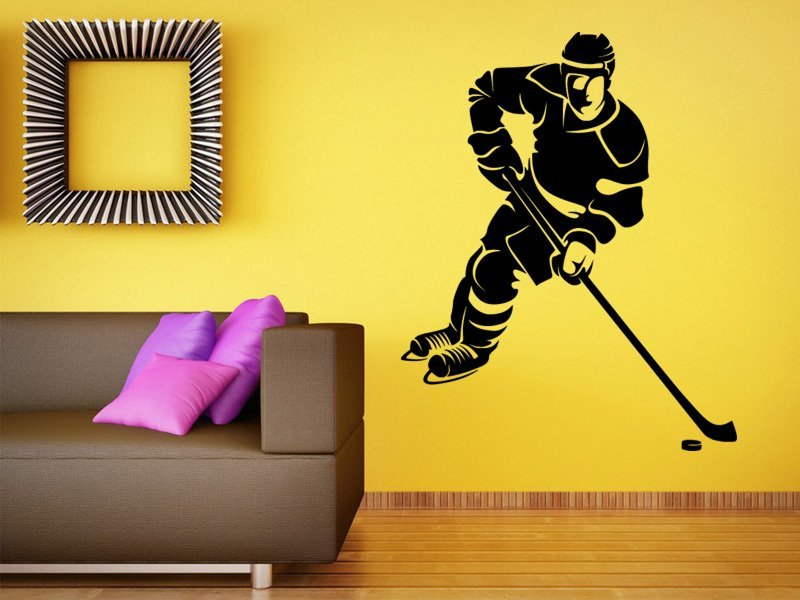 Samolepky na zeď Hokejista 0601 - Samolepící dekorace a nálepka na stěnu