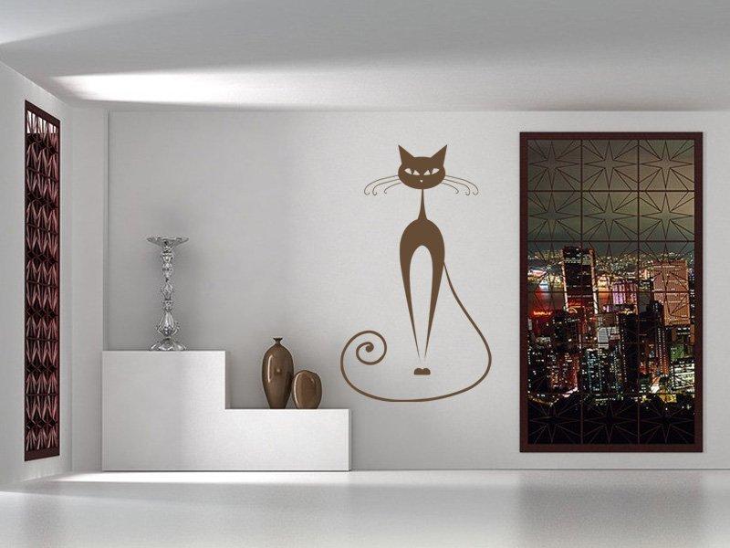 Samolepky na zeď Kočka 012 - Samolepící dekorace a nálepka na stěnu