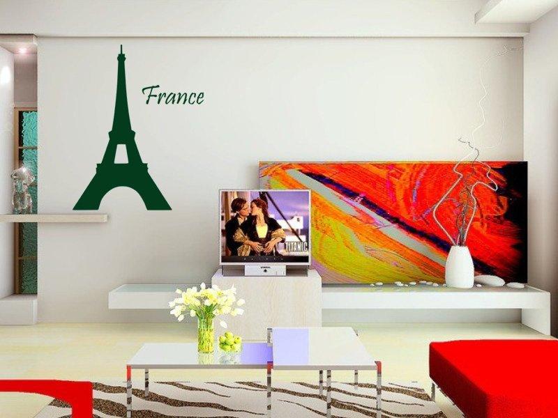 Samolepky na zeď Eifelova věž 005 - Samolepící dekorace a nálepka na stěnu