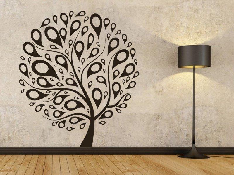 Samolepky na zeď Strom 030 - Samolepící dekorace a nálepka na stěnu