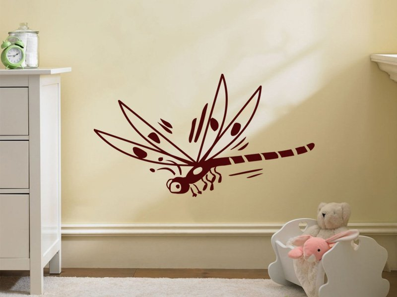 Samolepky na zeď Vážka 002 - Samolepící dekorace a nálepka na stěnu