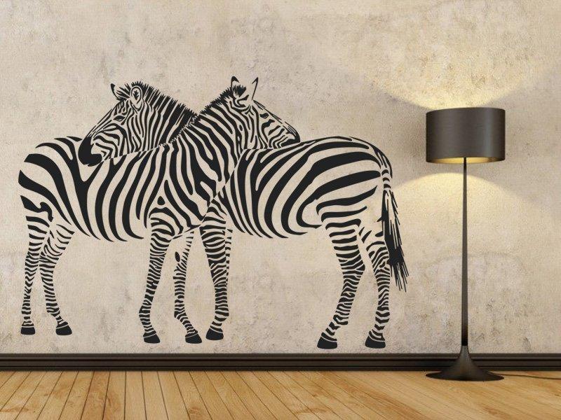 Samolepky na zeď Zebra 002 - Samolepící dekorace a nálepka na stěnu
