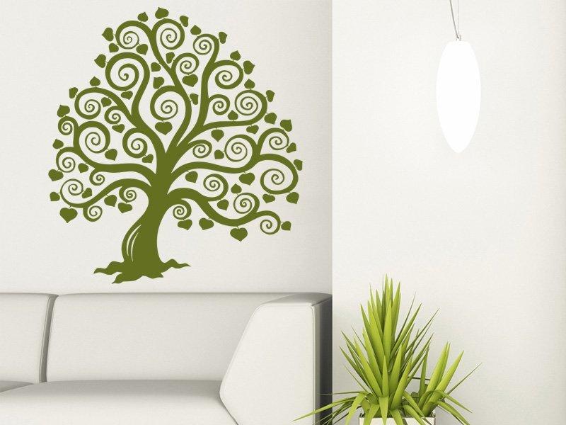 Samolepky na zeď Strom 015 - Samolepící dekorace a nálepka na stěnu