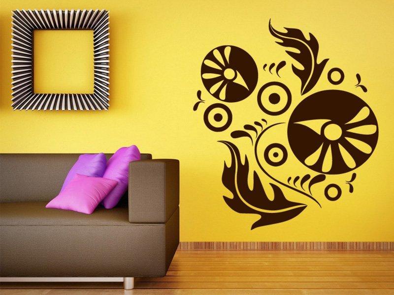 Samolepky na zeď Ornamenty z rostlin 011 - Samolepící dekorace a nálepka na stěnu