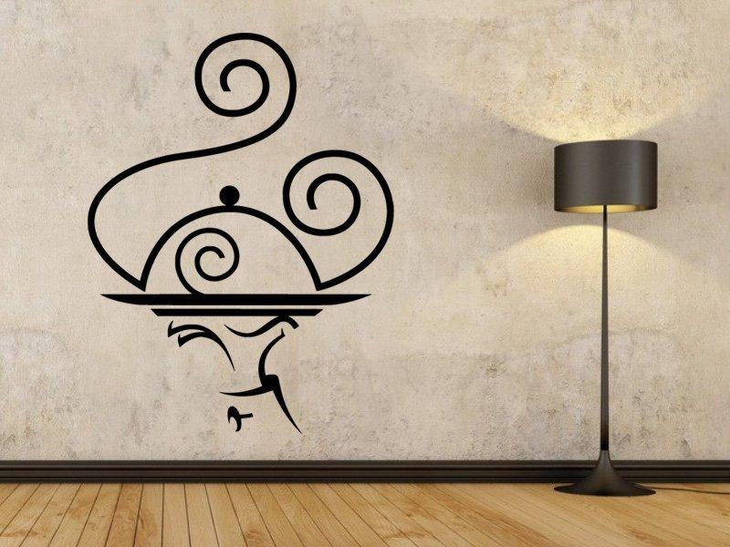 Samolepky na zeď Servírování 0169 - Samolepící dekorace a nálepka na stěnu