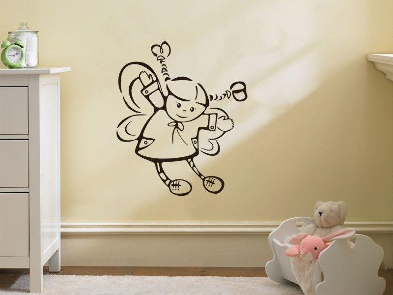 Samolepky na zeď Andílek 005 - Samolepící dekorace a nálepka na stěnu